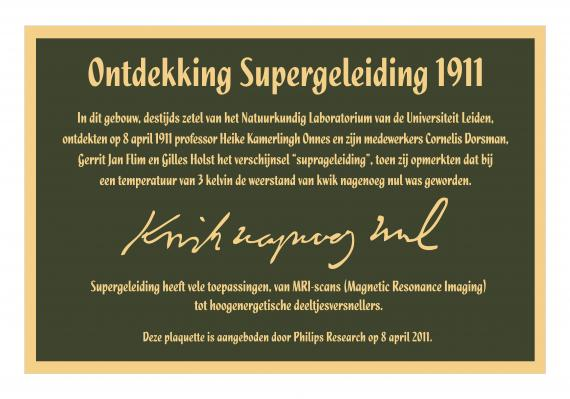 Discovery of SC plaque 1911 in Dutch